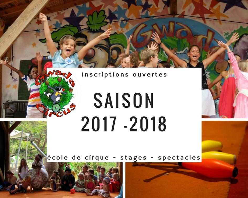 Inscriptions gwada circus Saison 2017-2018