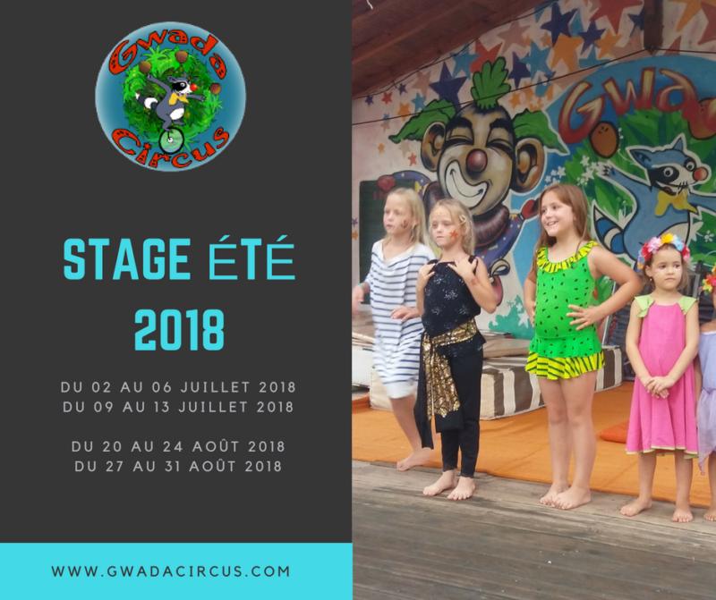 Stage cirque enfants été 2018 Guadeloupe Vieux Habitants