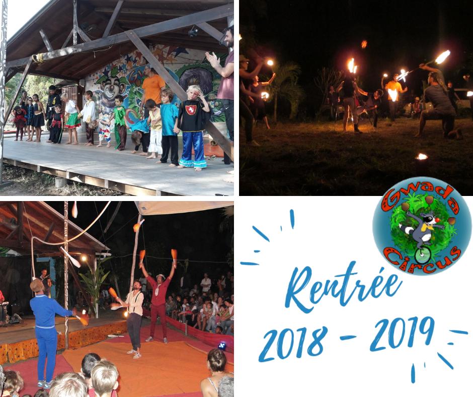 Rentrée école cirque acrobatie Guadeloupe