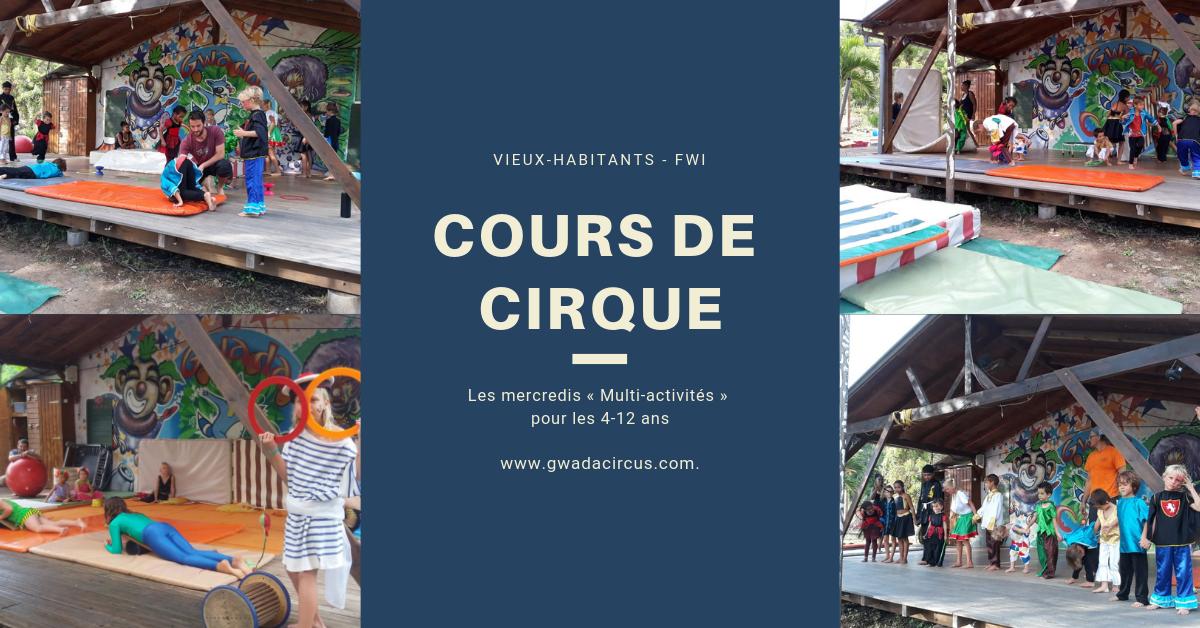 Les cours de Cirque enfants 4-12 ans Multi activités