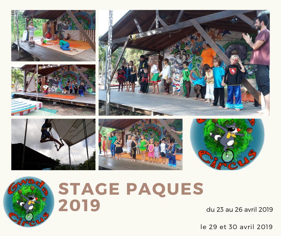 Stage de cirque enfant Guadeloupe Paques 2019